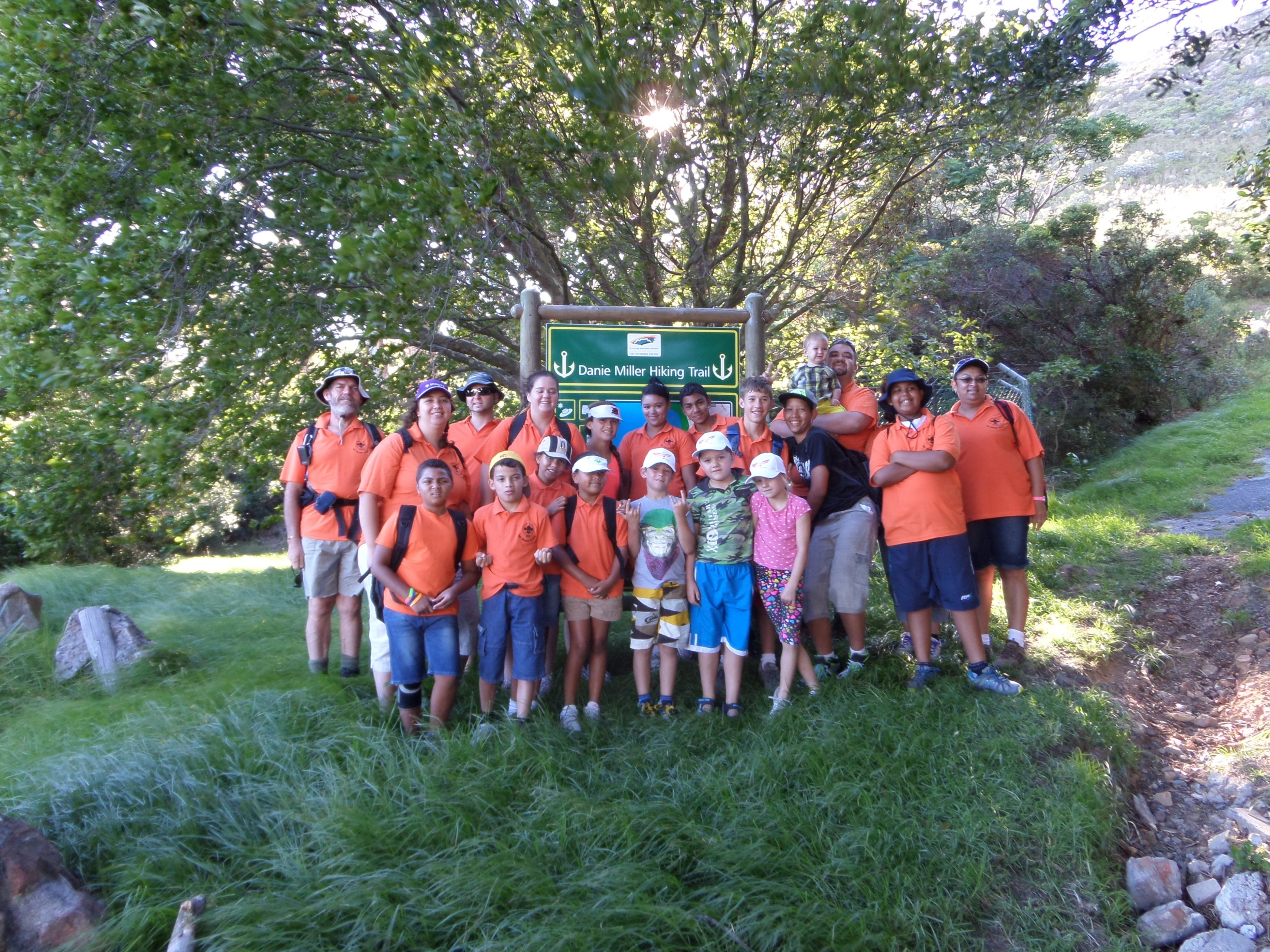 The group at the start of the trail.