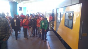 Arriving at Cape Town station